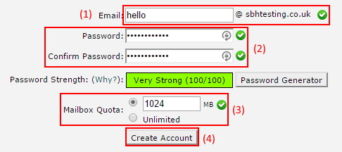 Setting E-Mail Account Details