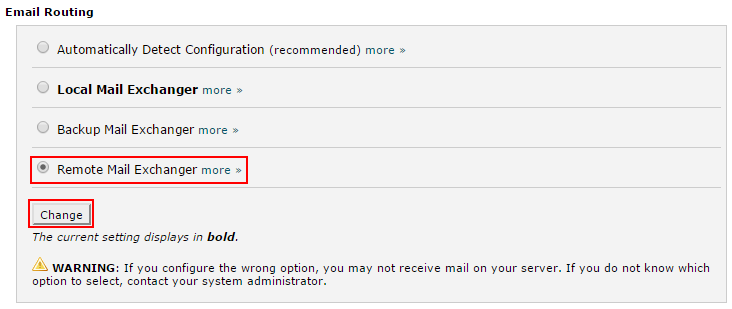 Setting your email routing