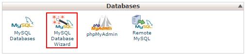 Selecting the MySQL DB Wizard