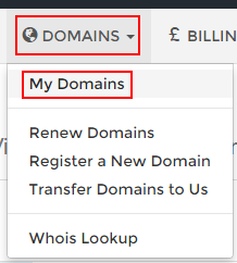 Selecting My Domains