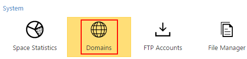 Selecting your Domains